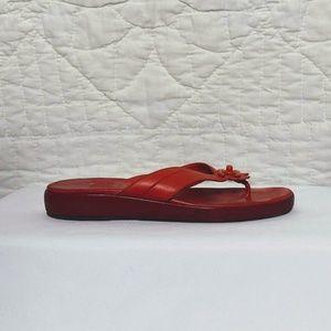 VTG CHANEL Authentic Designer Burnt Orange Sandals